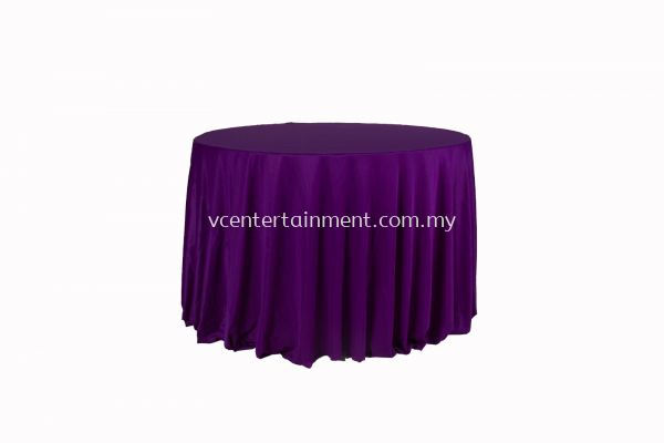 Round Table Cloth - Dark Purple