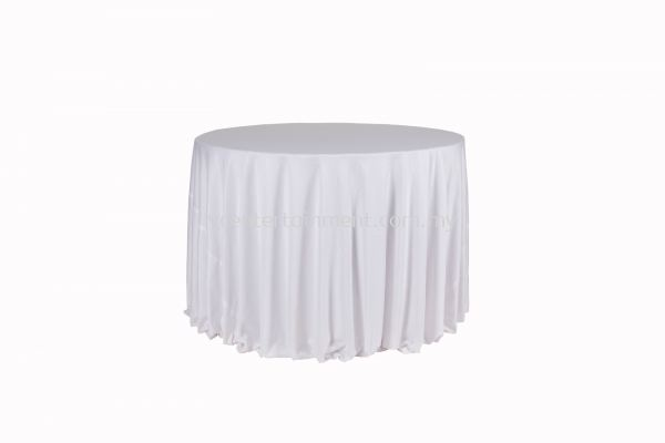 Round Table Cloth - White