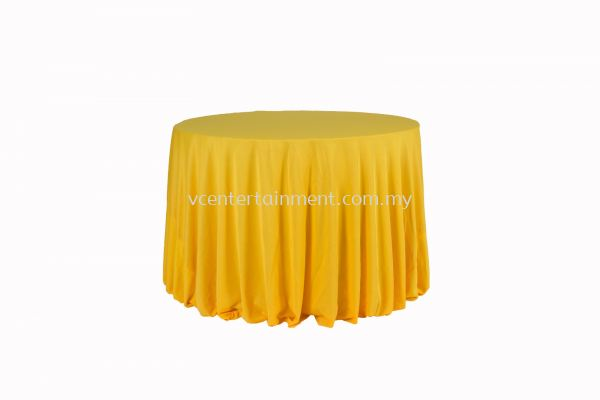 Round Table Cloth - Yellow