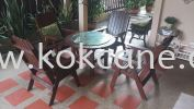 Wooden Furniture set 4 single + 1 round table Wooden Furniture