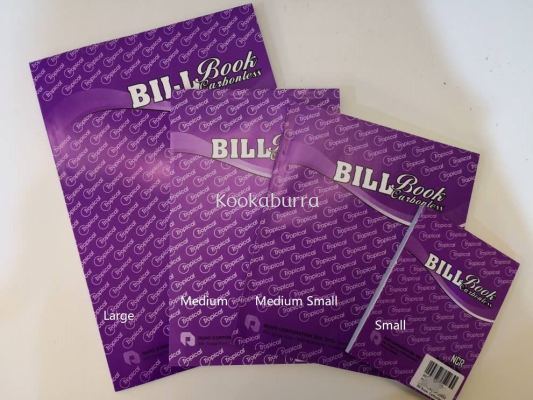 Purple Bill Book Carbonless