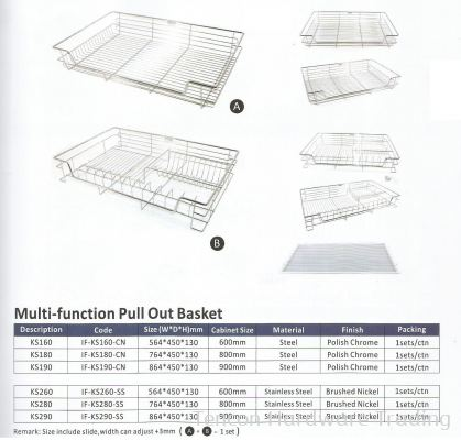 Multi Function Pull Out Basket