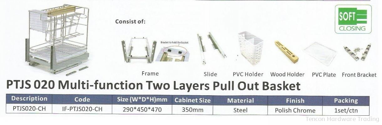 Multi Function Two Layers Pull Out Basket