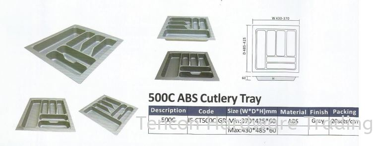 ABS Cutlery Tray Cutlery Tray eTen Furniture Hardware
