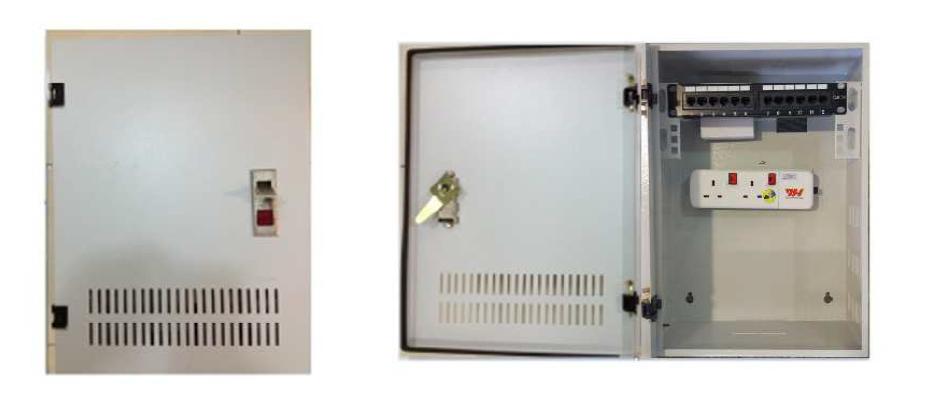 Soho box with Power socker, 6port UTP Panel Soho Box FTTx  / FTTH Solutions