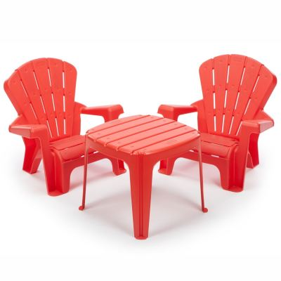 Garden Table & Chair Set- Red