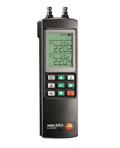 testo 312-2 - Precision Pressure Measuring Instrument