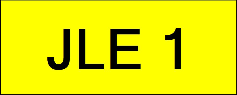VVIP Number Plate (JLE1)