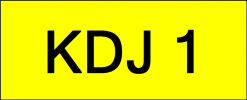 VVIP Number Plate (KDJ1) All Plate