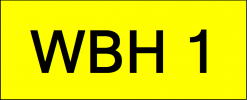 Number Plate WBH1 Wilayah Golden Plate