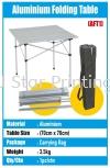 Aluminium Folding Table Brochure Stand & Table Banner Inkjet