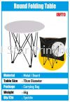 Round Folding Table Brochure Stand & Table Banner Inkjet