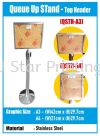 Queue Up Stand - Top Header - QSTH-A3 Menu/Postal Stand Banner Inkjet