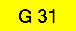 Number Plate G31 Rare Classic Plate