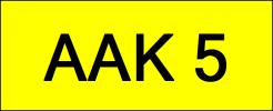 AAK5 VVIP Plate