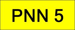 PNN5 VVIP Plate