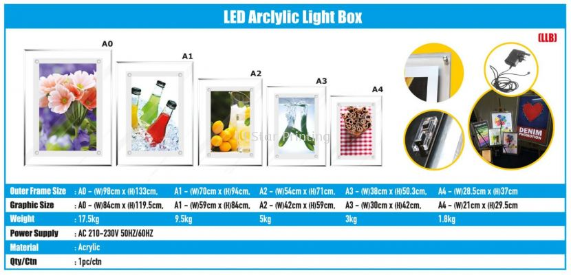LED Arclylic Light Box