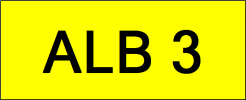 Number Plate ALB3 VVIP Plate