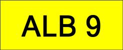ALB9 VVIP Plate