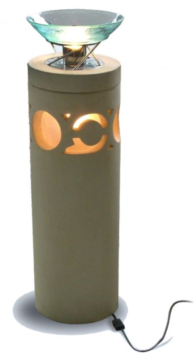 F 039 Palimanan Pedestal Essential Oil Diffuser with Bulb Light Heating