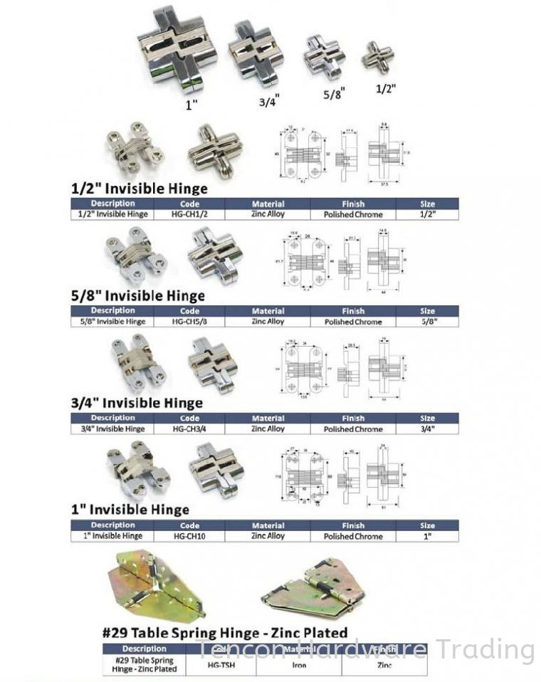 Door Hinges Door Hinge eTen Furniture Hardware