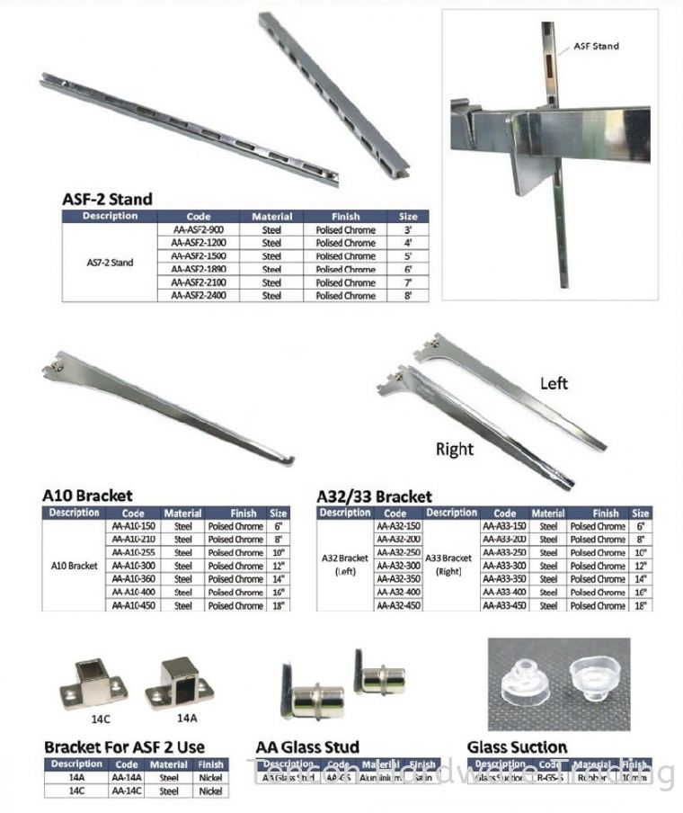 AA System AA System eTen Furniture Hardware