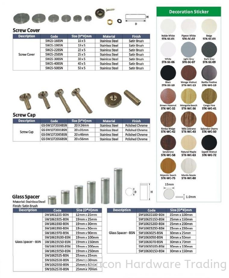 Decoration Hardware Decoration Hardware eTen Furniture Hardware