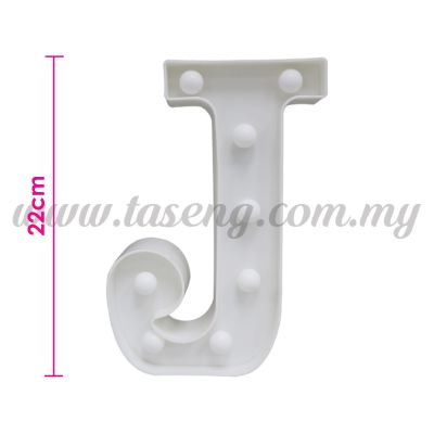 8.5inch Alphabet LED Light - J (AC-LED8J)