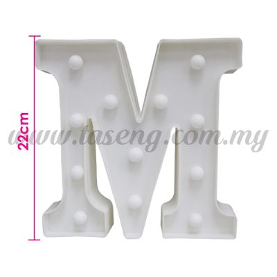 8.5inch Alphabet LED Light - M (AC-LED8M)