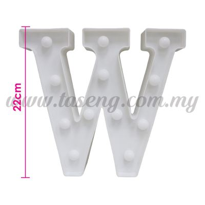 8.5inch Alphabet LED Light - W (AC-LED8W)