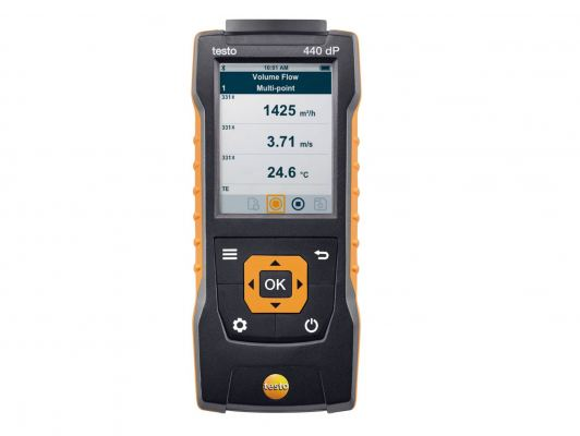 Testo 440 dP - Air Velocity & IAQ Measuring Instrument Including Differential Pressure, Order-Nr. 0560 4402 Sensor