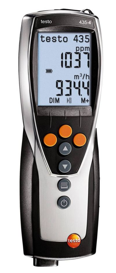 Testo 435-4 - Multifunction Indoor Air Quality Meter, Order-Nr. 0563 4354