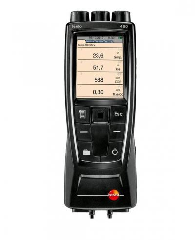 Testo 480 - Digital Temperature, Humidity & Air Flow Meter, Order-Nr. 0563 4800