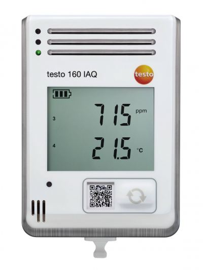 testo 160 IAQ - WiFi Data Logger with Display & Integrated Sensors for Temperature, Humidity, CO2 & Atmospheric Pressure