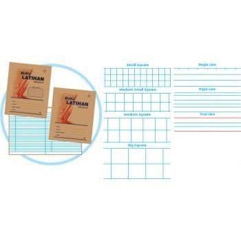 80 pages Kraft cover F5 Exercise book 50 gsm Single Line