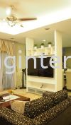 TV console design Taman Setia Tropika Living area design