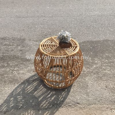 RATTAN SIDE TABLE DRUM
