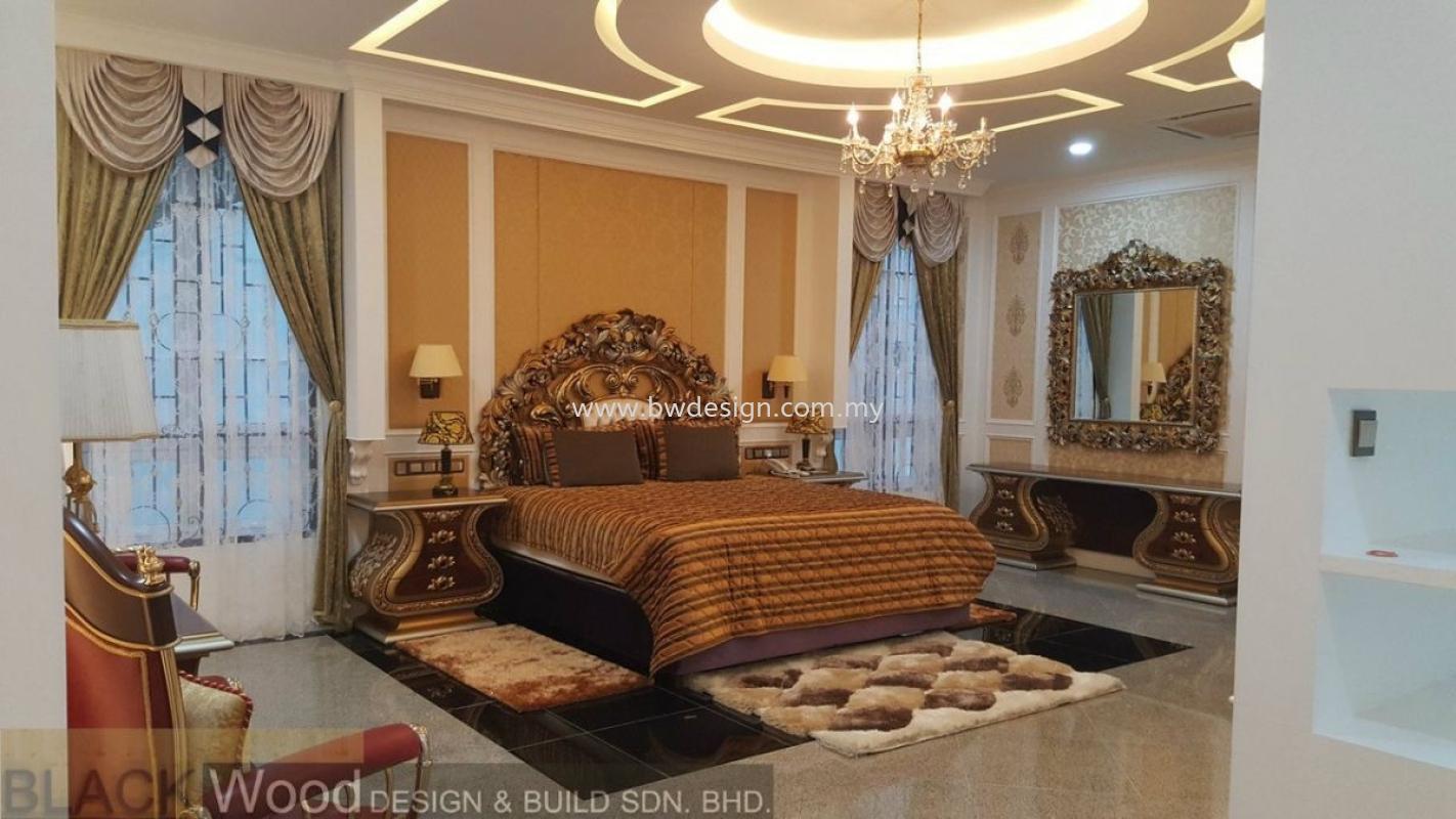 Kempas Bungalow Design Master Bedroom Design Johor Bahru (JB), Mount Austin, Setia Indah Interior Design, Renovation | Black Wood Design & Build Sdn Bhd
