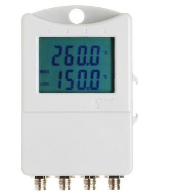 Thermometer 2 chann.+ 2x binary input with display
