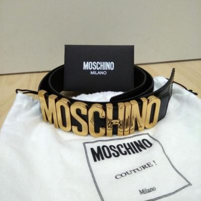 (SOLD) Brand New Moschino Belt in Black Leather