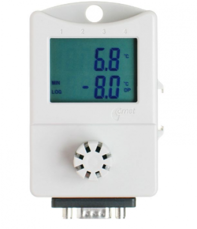 Thermo-hygrometer + 2x 0-5Vdc voltage input with disp.