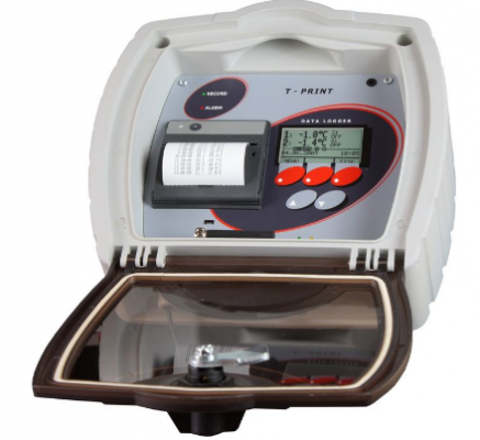T-PRINT - temperature recorder for semi-trailer with wireless output