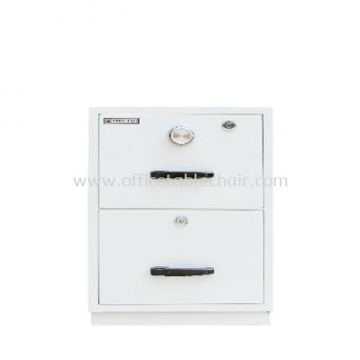 FIRE RESISTANT CABINET 2 DRAWER (INDIVIDUAL LOCKING) SAND BEIGE COLOR