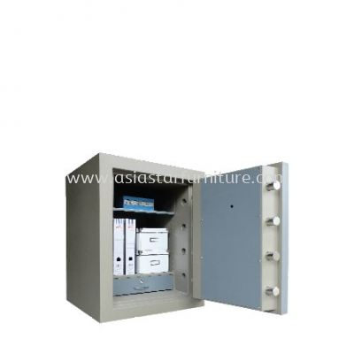 BANKER SAFE SS-AS65 SIZE TWO (2) BLUE GREY COLOUR INTERNAL VIEW