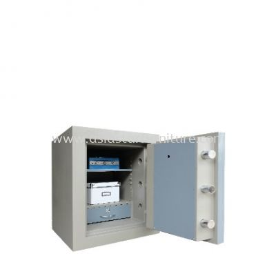 BANKER SAFE SS-AS65 SIZE ONE (1) BLUE GREY COLOUR INTERNAL VIEW