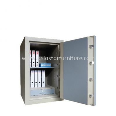 BANKER SAFE SS-AS65 SIZE THREE (3) BLUE GREY COLOUR  INTERNAL VIEW