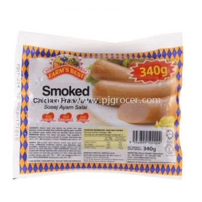 Farm's Best Smoked Chicken Frankfuthers 340gm