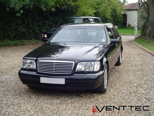 MERCEDES S-CLASS W140 SEDAN (LONG WHEEL BASE) venttec door visor
