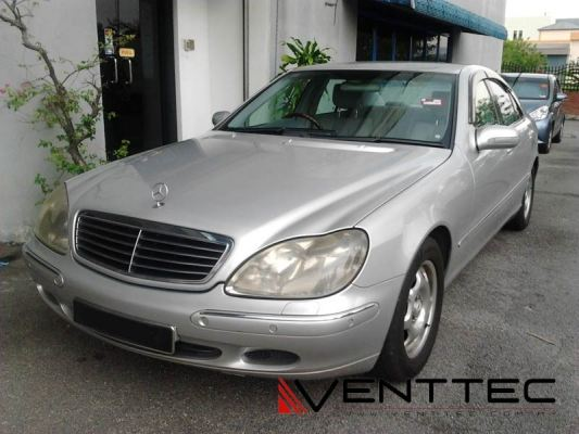 MERCEDES S-CLASS W220 SEDAN (SHORT WHEEL BASE) VENTTEC DOOR VISOR
