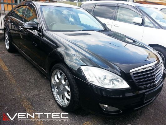 MERCEDES S-CLASS W221 SEDAN (SHORT WHEEL BASE) venttec door visor